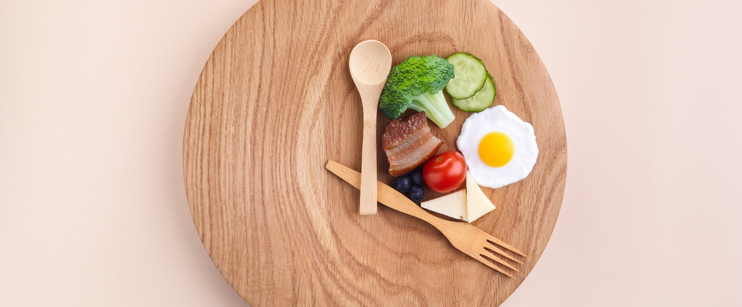 types of intermittent fasting: food clock concept